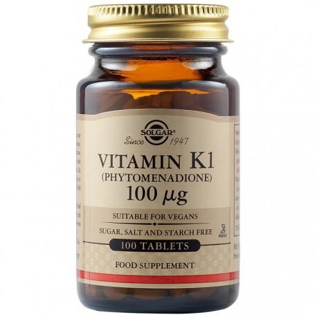 Vitamina K1 100mcg 100 tablete Solgar