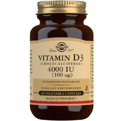 Vitamina D3 4000iu 60 capsule vegetale Solgar