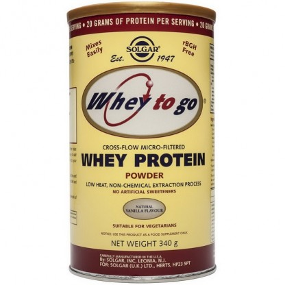 Proteine Whey To Go Vanilla Pudra 340g Solgar