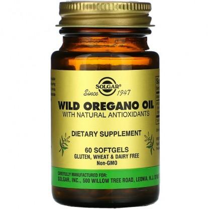 Wild Oregano Oil (Ulei de Oregano Salbatic) 60 capsule vegetale Solgar