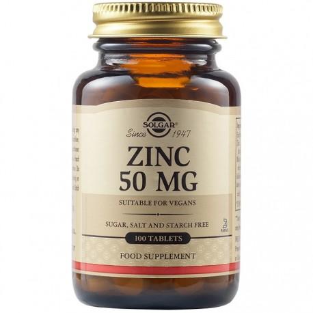 Zinc Gluconate (Gluconat de Zinc) 50mg 100 tablete Solgar