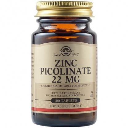 Zinc Picolinate 22mg 100 tablete Solgar