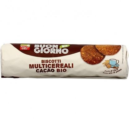 Biscuiti BIO cu multicereale si cacao (produs vegan) Finestra sul Cielo 250g
