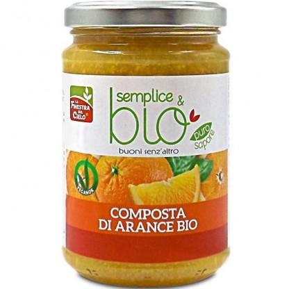 Gem bio de portocale (indulcit cu pulpa de mere) 320g Finestra sul Cielo