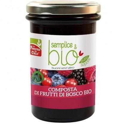 Gem bio fructe de padure (indulcit cu pulpa de mere) 320g Finestra sul Cielo