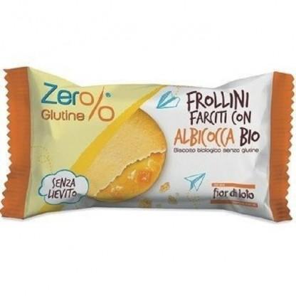 Biscuiti Frollini bio cu umplutura de caise, fara gluten 70g Fior di Loto