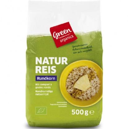 Orez brun bio bob rotund 500g Green Organics