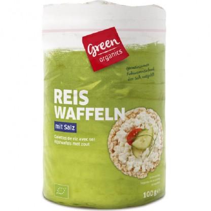 Rondele din orez expandat cu sare BIO 100g Green Organics