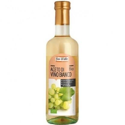 Otet bio de vin alb, nepasteurizat 500ml Fior di Loto