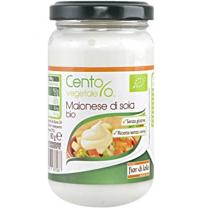 Maioneza bio de soia, fara gluten, vegan 180g Fior di Loto