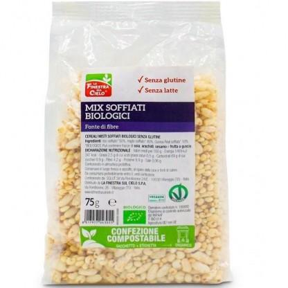 Mix de cereale expandate bio (quinoa, mei, orez), fără gluten 75g Finestra Sul Cielo