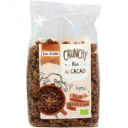 Musli bio crocant cu fulgi de ovaz cu cacao, fara ulei de palmier, vegan 375g Fior di Loto
