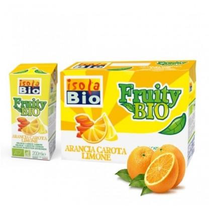 Nectar bio de portocale, morcovi si lamaie Fruity 200ml Isola BIO