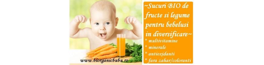 Sucuri de fructe si legume BIO pentru bebelusi