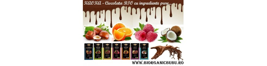 Ciocolata BIO, pudra de cacao si roscove