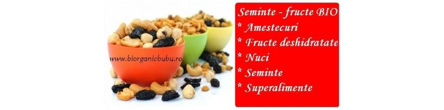 Seminte BIO si fructe uscate fara sulfiti