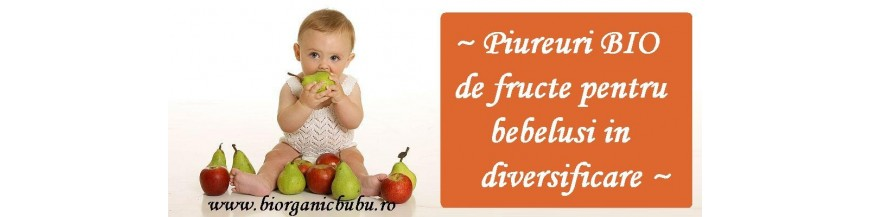 Piureuri BIO pentru bebelusi in diversificare
